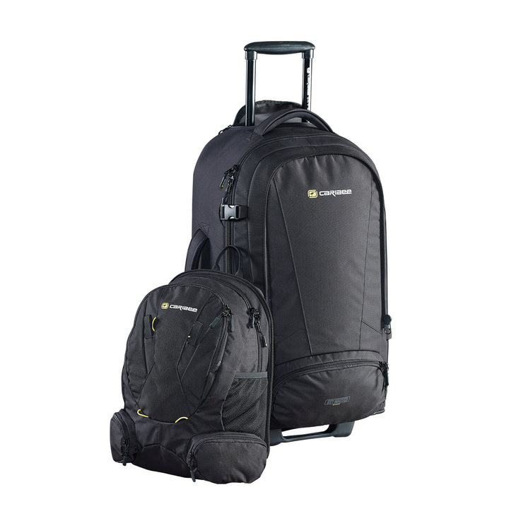 92b632965d82 Caribee Sky Master with daypack removed click to zoom. Caribee Sky Master  70L wheel travel backpack open