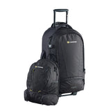 Caribee Sky Master 80L wheel travel backpack with daypack off
