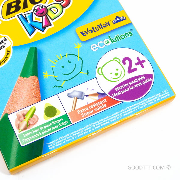 Bic Kids Evolution Triangle Colouring Pencils - 12 colours