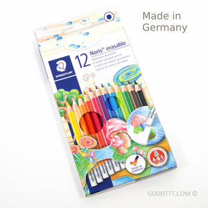 Staedtler Noris Erasable Coloured Pencils - 12 Colours