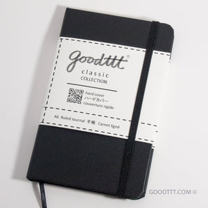 The Goodttt Journal - A6 Hardcover Ruled (Black)