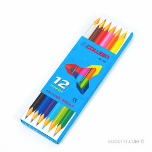 Colleen Triangle Coloured Pencils - 12 colours