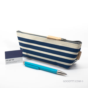 Kokuyo Pen Case Blue Stripe