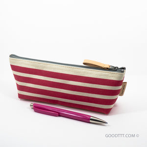 Kokuyo Pen Case Red Stripe