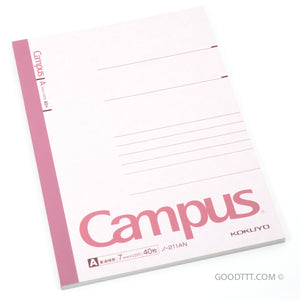 Kokuyo Campus Note Pink (~18 CM TALL) No-211AN