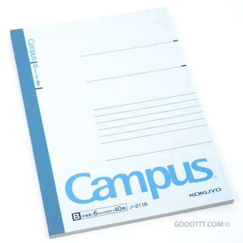 Kokuyo Campus Note Blue (~18 CM TALL) No-211B