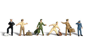 Woodland Scenics Ho Scale Uniformed Travellers