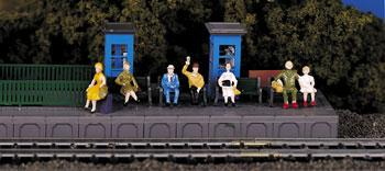 Bachmann HO Scale Figures Sitting Passengers