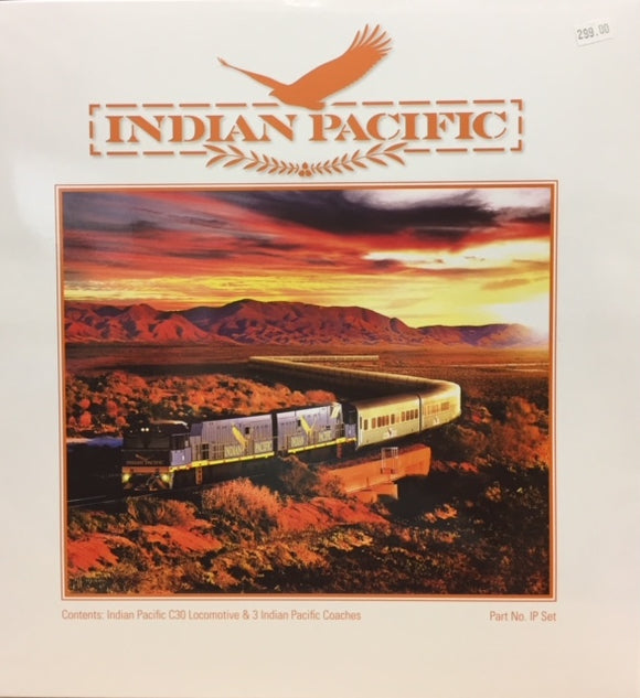 Indian Pacific C30 Locomotive & 3 Indian Pacific Coaches Train Set