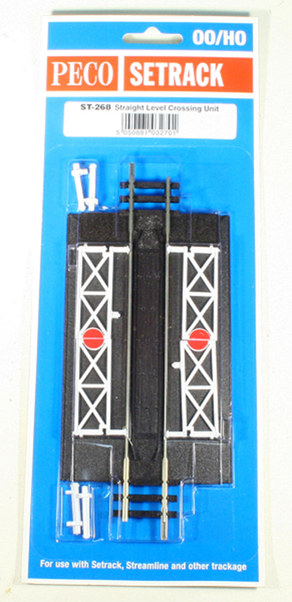 Peco Setrack ST-268 Straight Level Crossing Unit