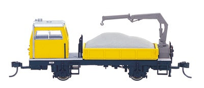 Spectrum HO maintenance of way vehicles ballast vehicle with crane