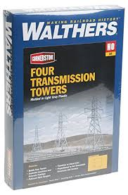 Walthers HO Four Transmission Towers