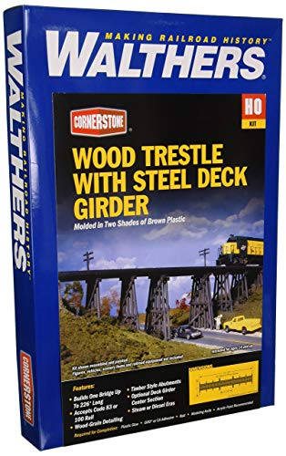 Walthers  HO Wood Trestle with Steel Deck Girder