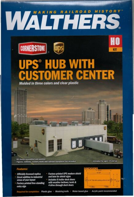 Walthers UPS Hub with Customer Centre 933-4110