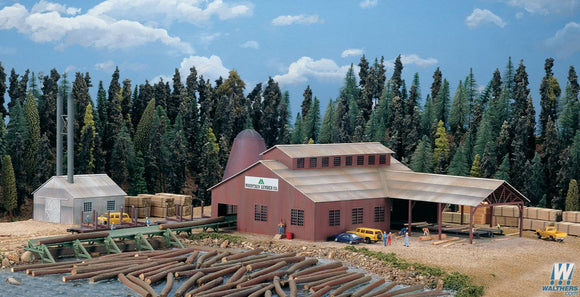 Walthers N gauge Mountain Lumber Company Sawmill
