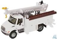 Walthers HO Scene Master 4300 Utility Truck with Drill white