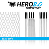 East coast Dyes Hero 2.0 lacrosse mesh white kit