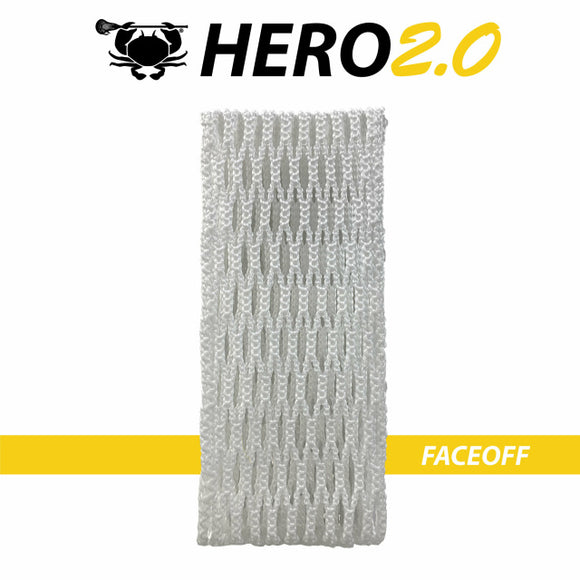 East coast Dyes Hero 2.0 lacrosse mesh faceoff white
