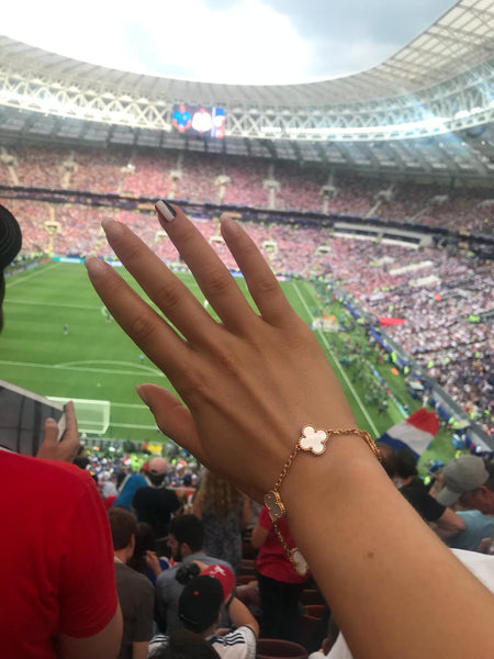 Youma Leth cheering for Les Bleus during the World Cup 2018