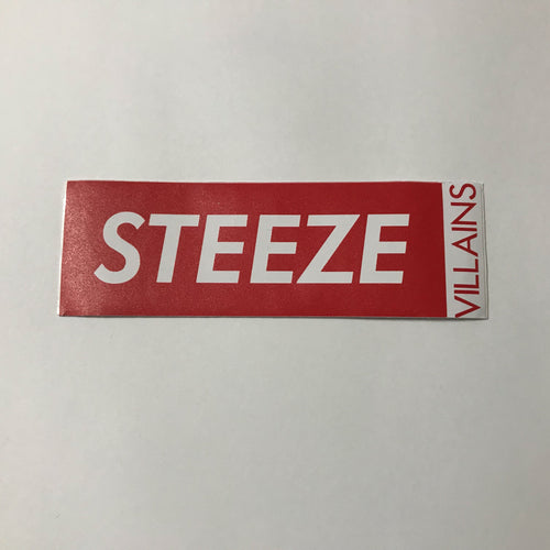 Boxed Logo Car sticker - Red