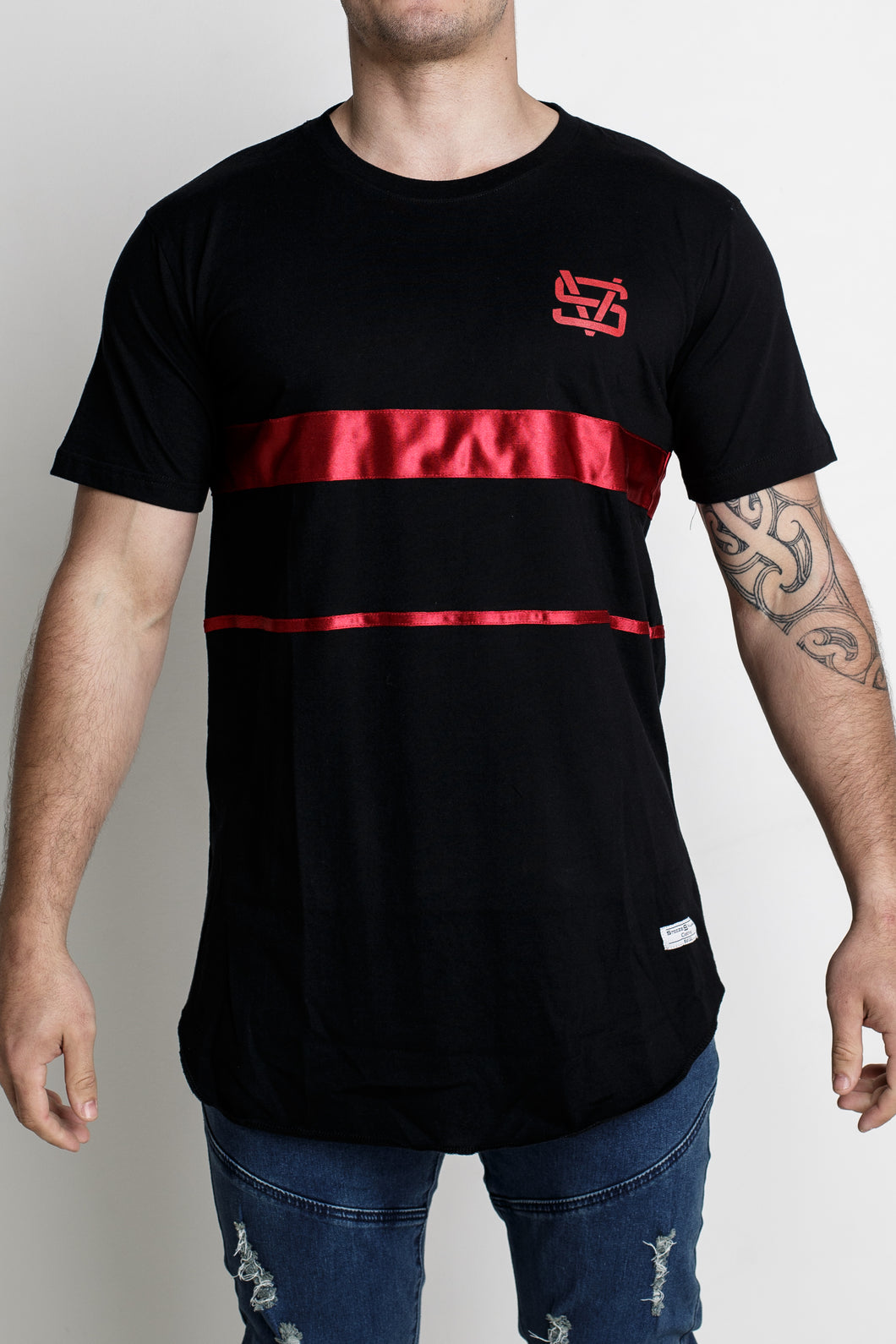 Red Band Tee - Black
