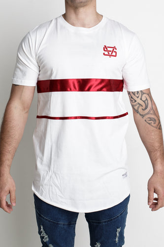 Red Band Tee - White