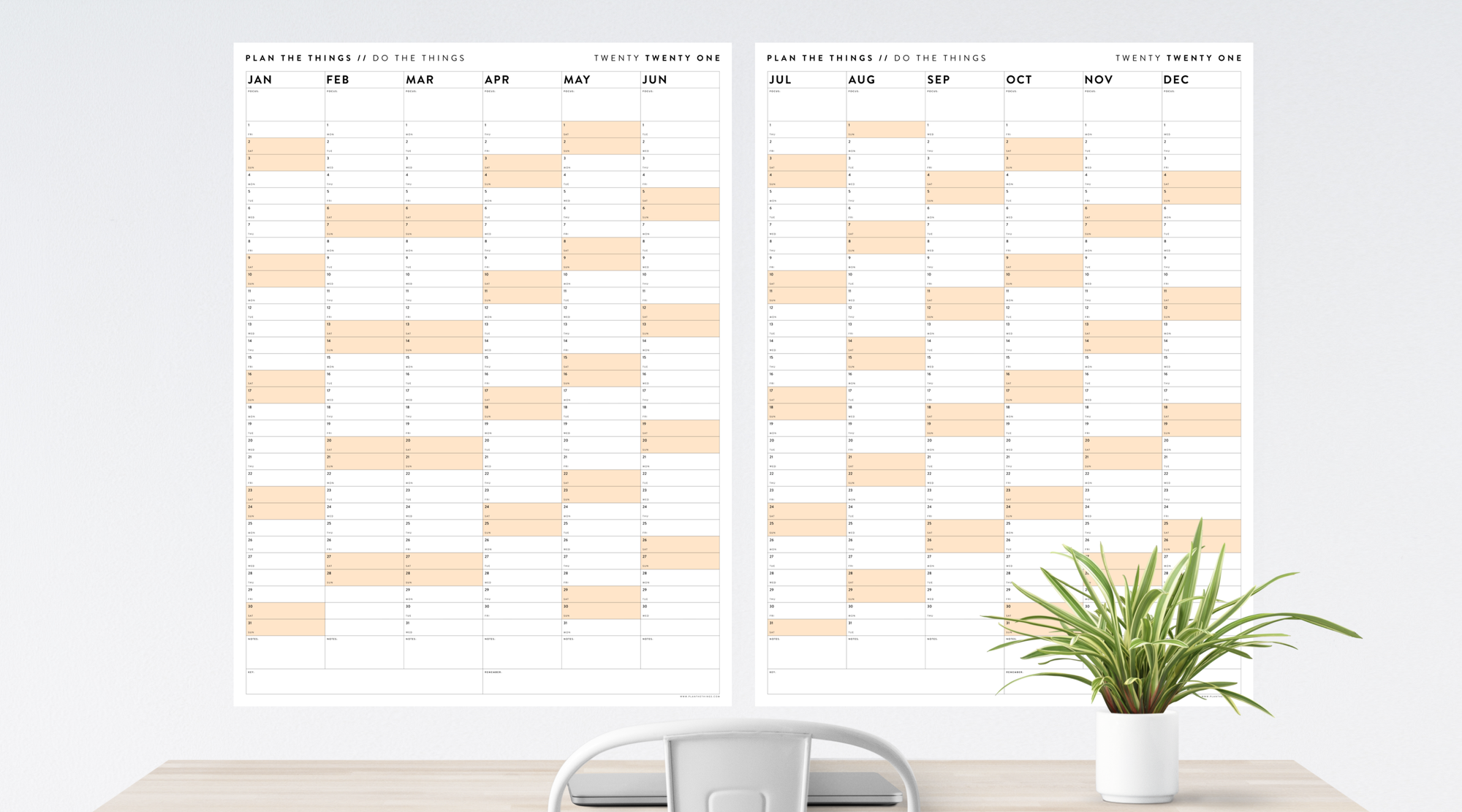 SIX MONTH CALENDAR SET