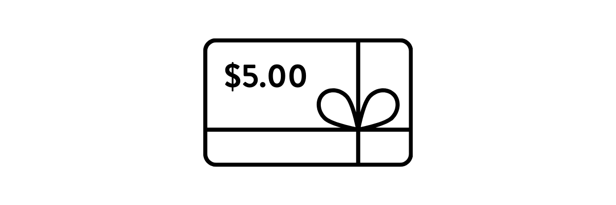 GET $5 TO SPEND IN THE PLAN THE THINGS SHOP / GIFT CARD IMAGE
