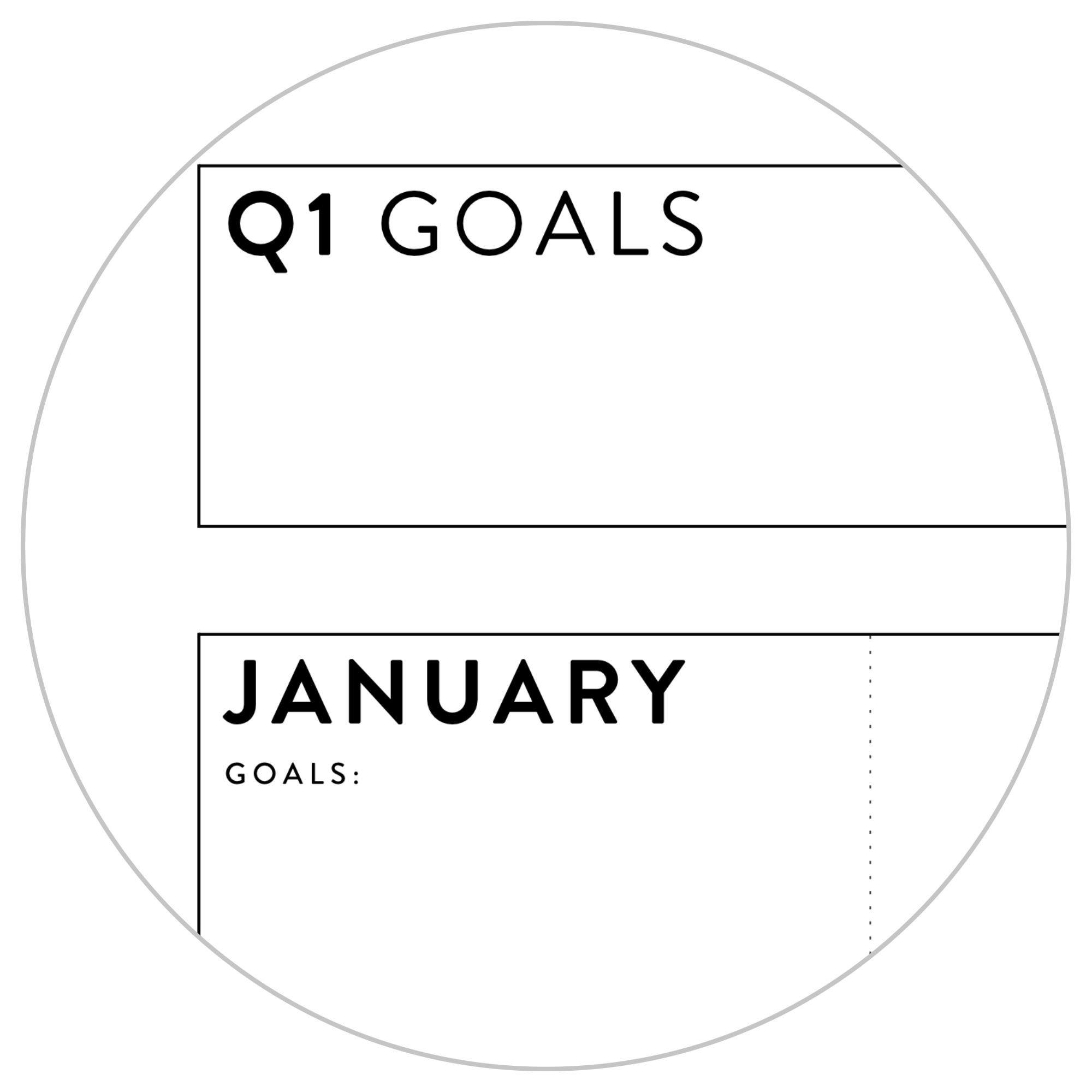 ANNUAL FOCUS AND GOALS WALL PLANNER 2021