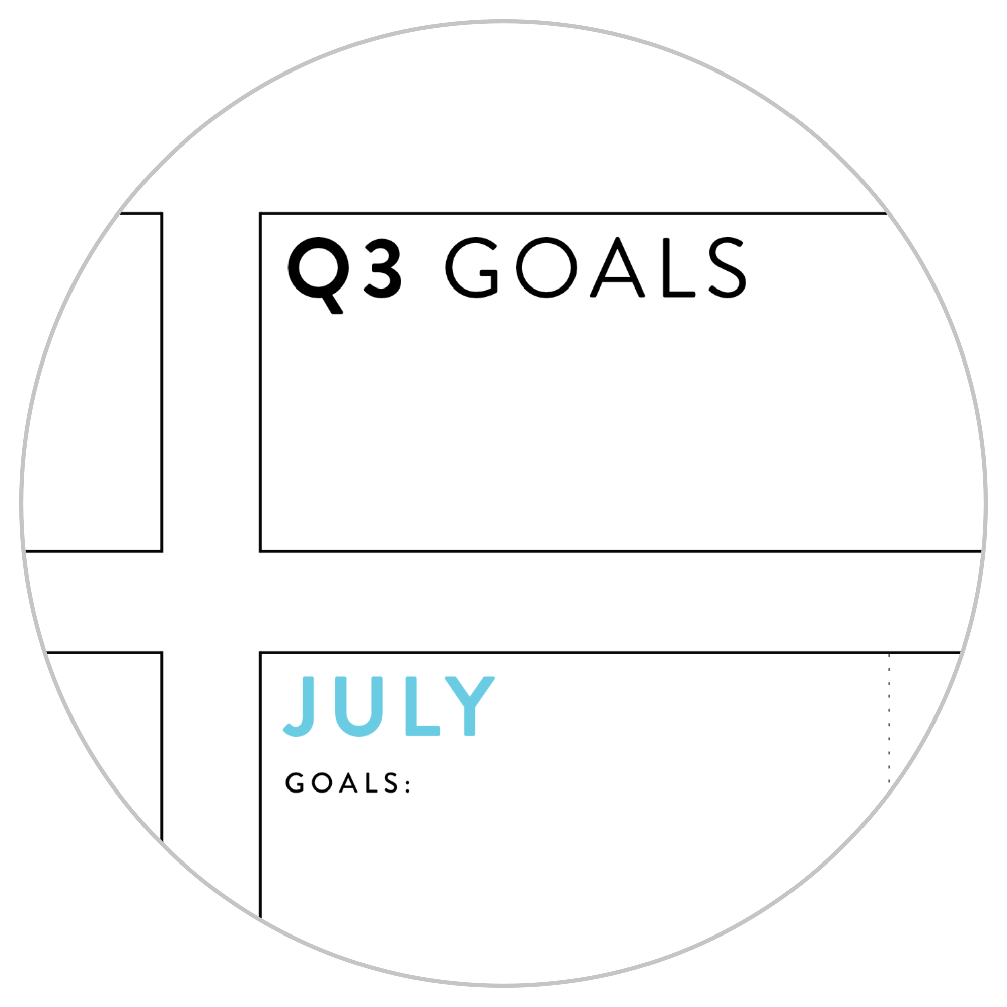 ANNUAL FOCUS AND GOALS WALL PLANNER 2021 - RAINBOW