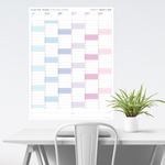SIX MONTH 2021 WALL CALENDAR (JULY TO DECEMBER) WITH RAINBOW WEEKENDS