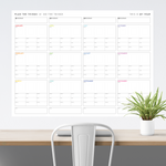 ANNUAL FOCUS AND GOALS WALL PLANNER - UNDATED | RAINBOW