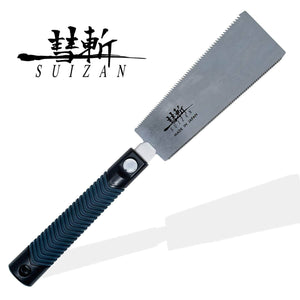 SUIZAN Japanese Ryoba Pull Saw 7 Inch Double Edge Hand Saw for Woodworking
