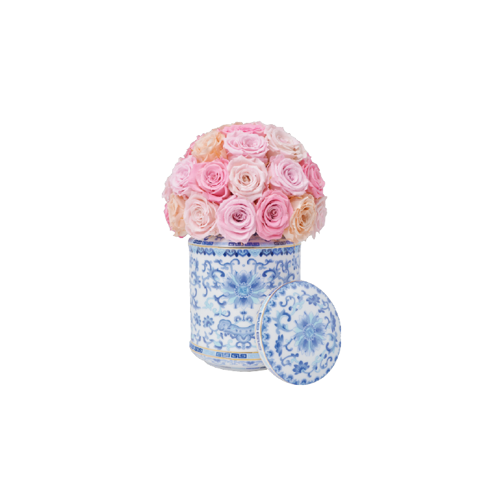 Peach and Blue Easter Jar