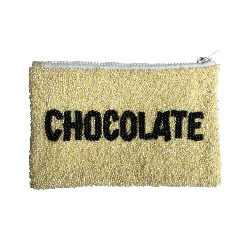 Necessaire bordada lantejoula chocolate branca - The Goodies Brasil