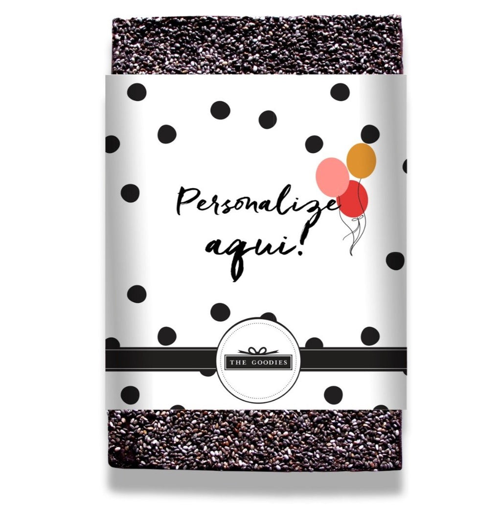 Personalize a frase do rótulo p/ chocolate 125g - The Goodies Brasil