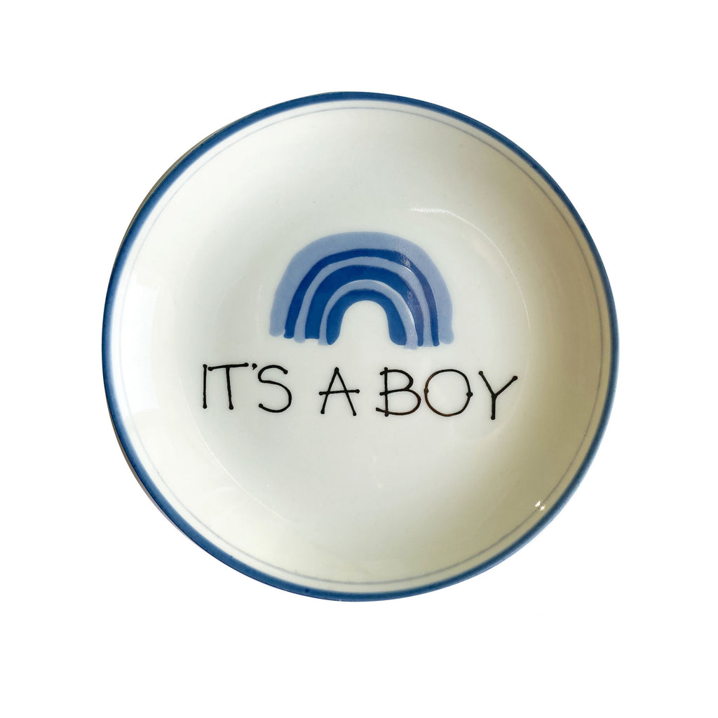 Prato de porcelana médio It's a boy - The Goodies Brasil