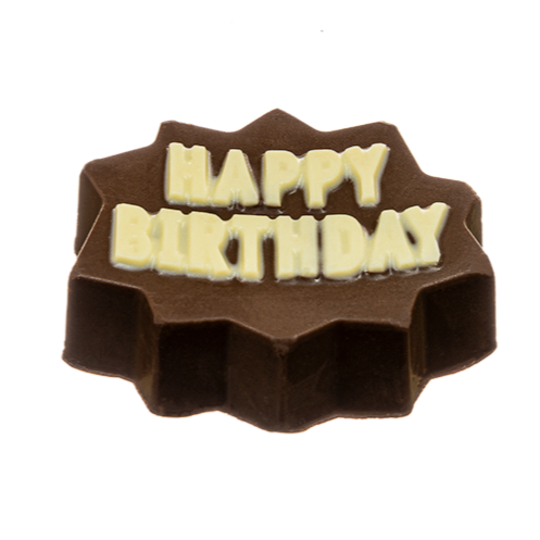 Bombom de chocolate happy birthday c/ nutellina 50g - The Goodies Brasil