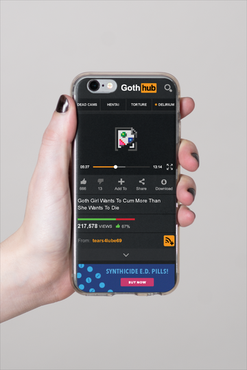 Goth Hub iPhone Case
