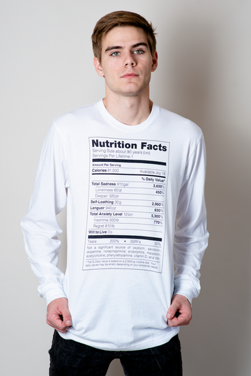Depression Nutrition Facts Long Sleeve