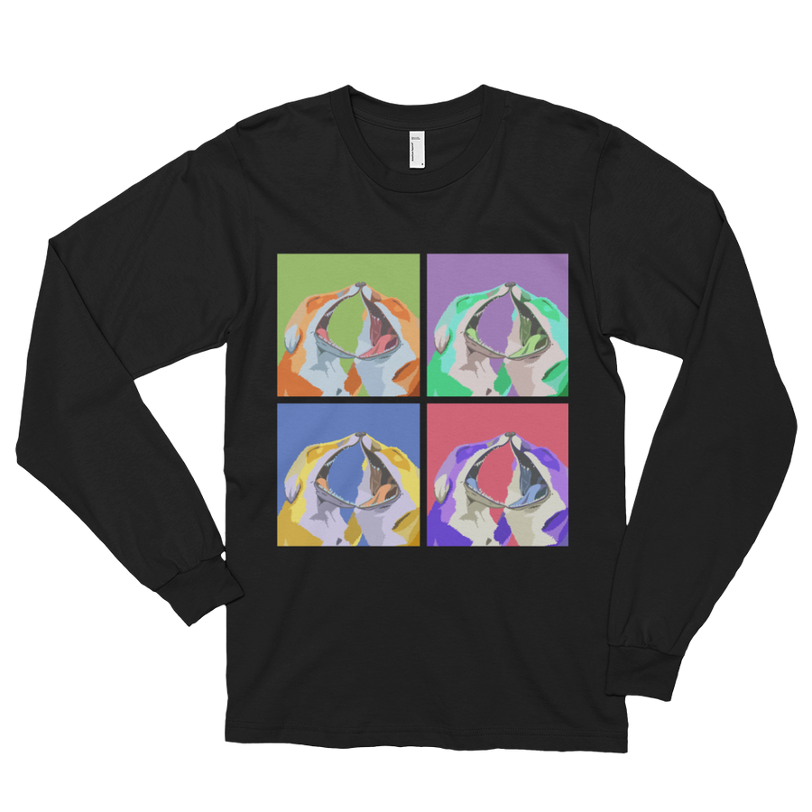 Pop Foxes Black Long Sleeve