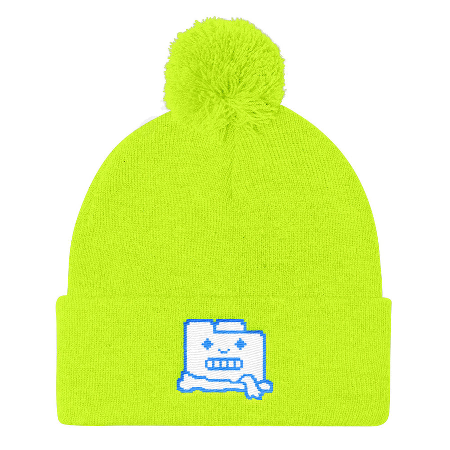 Frozen Filez Neon Yellow Beanie