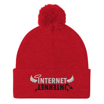 Internet Angels & Demons Pom-Pom Beanie