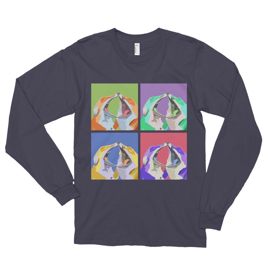 Pop Foxes Grey Long Sleeve