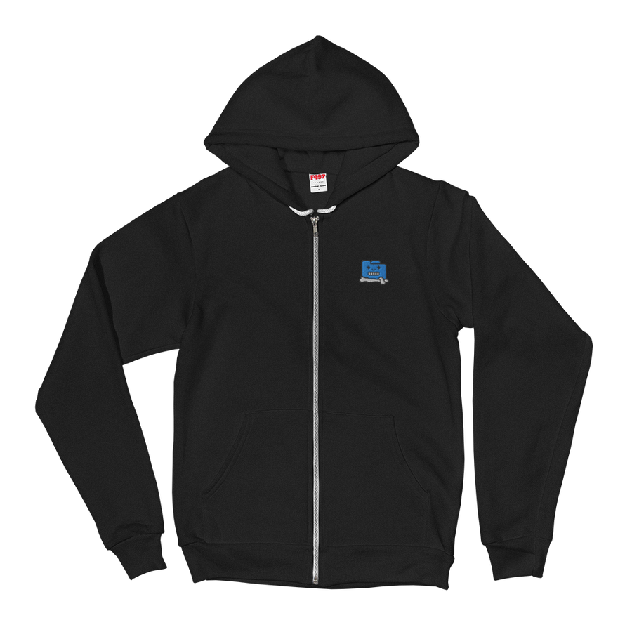 Frozen Filez Embroidered Zip-Up Hoodie