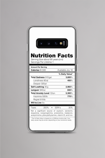 Depression Nutrition Facts Samsung Case