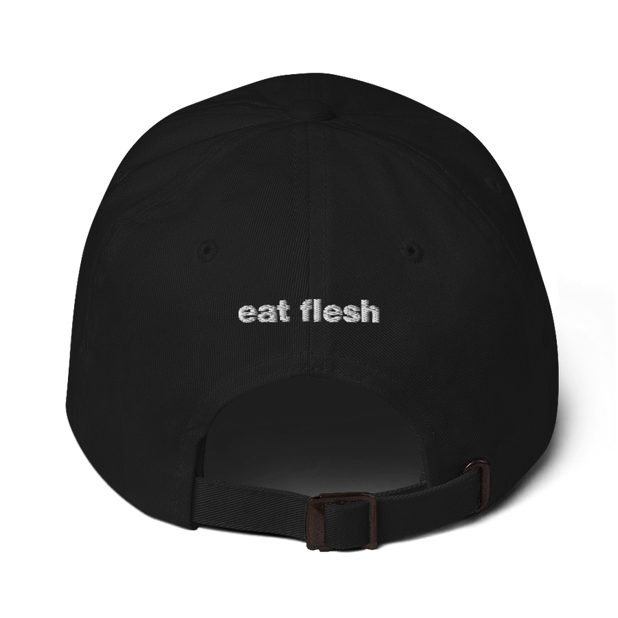 Eat Flesh Black Dad Hat
