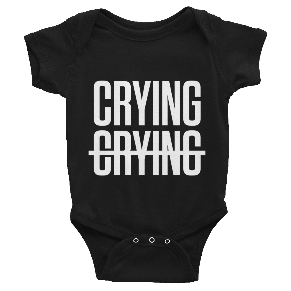 Crying Not Crying Onesie