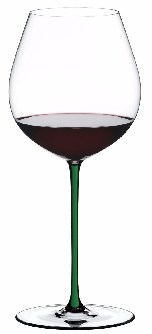 Riedel Fatto A Mano Old World Pinot Noir Wine Glass Green Stem 4900/07D NEW