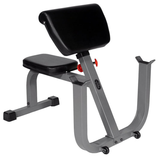 XMark Seated Preacher Curl Adjustable Height Weight Exercise Bench XM-4436 New